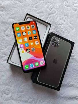 iPhone 11 Pro 256 GB space comes with box and earphones.