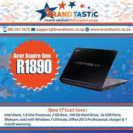 Acer Aspire One Notebook & Charger @ R1890