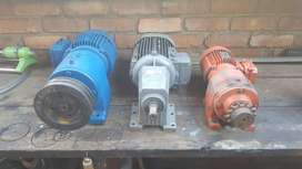 Motors with reduction boxes