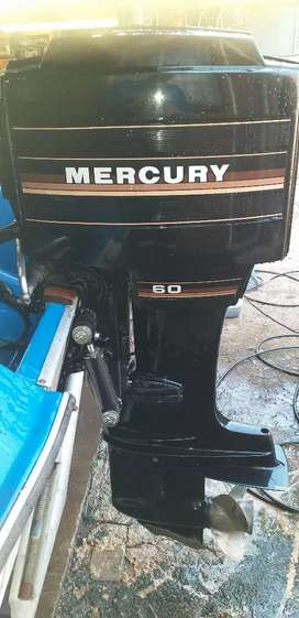 Mercury 60 with boat and trailer