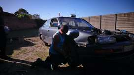 Toyota camry breaking up for parts, the whole car standing, engine