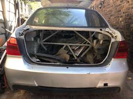 BMW e90 body with roll cage