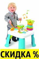БЕСПЛ.ДОСТАВКА Развивающий столик Цветок Cotoons Smoby 211170 211169