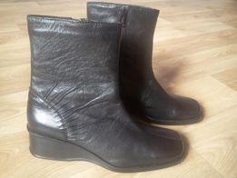 Полусапожки ботинки женские черные кожа размер 36
