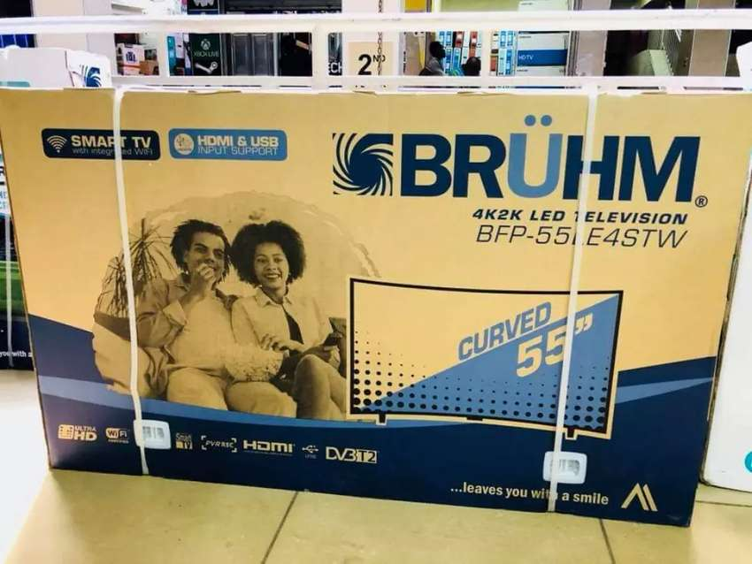 """BRUHM 55""""inch curved smart and digital TV 0"""