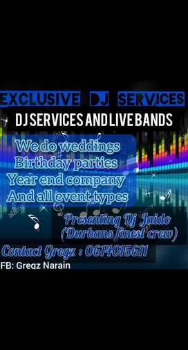 Dj services and live bands
