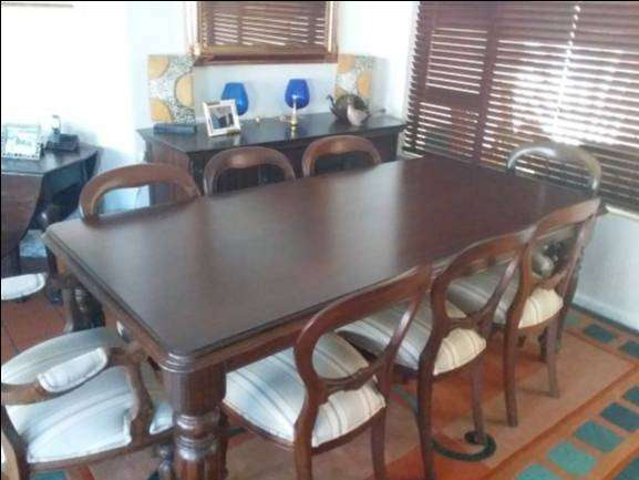 9 Piece Dining Room Table and Chairs 0