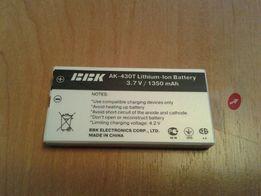 Новый аккумулятор BBK AK-430T Lithium-Ion 3.7 V / 1350 mAh