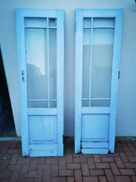1 kitchen door and French doors