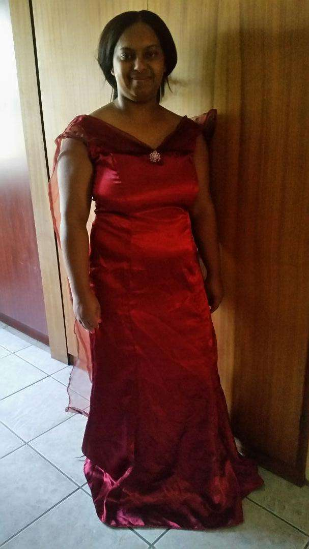 Red Evening Dress Size 36 0