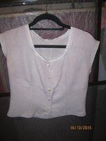 bluzeczka bluzka różowo biała pepitka 38