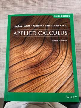 Applied Calculus Textbook - 6th Edition.
