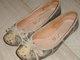 Балетки туфли из змеи 36р-р