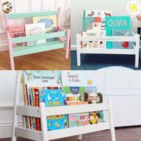 Piękny regał, półeczka na książki do pokoju dziecięcego organizer