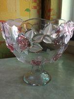 продаю скляну вазу для фруктів/цукерок чи іншого