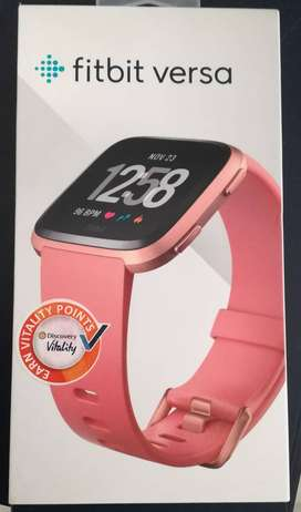New in box Fitbit Versa Rose Gold  - 12 Month Warranty - Screen Protec