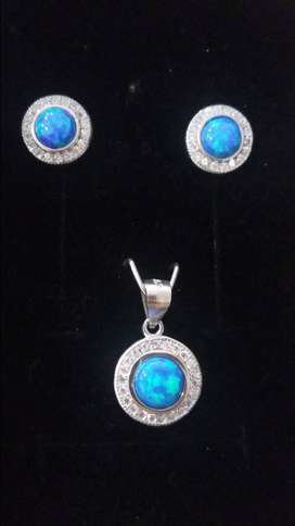 Gilson Opal Earring and Pendant Set