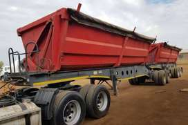 TRUCK AND 34TONE SIDETIPPER FOR RENTAL