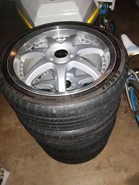 18 inch 4X100/114 Rims and tyres