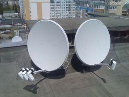 спутниковые антенны (на одну и три головки )