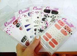 Стикеры наклейки на ногти дизайн ногтей набор camill lady