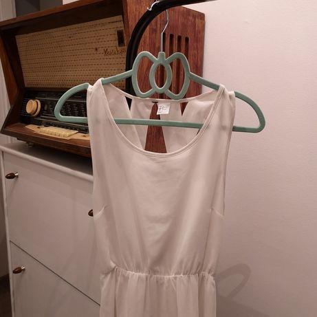 Biała sukienka h&m krzyżakowe plecy szyfonowa letnia wesele szyfon S Dąbrowa Górnicza - image 5