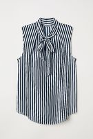 Bluzka z krepy H&M pasy prążki roz 36