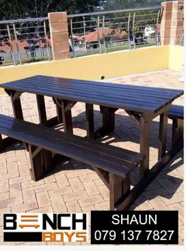 Restaurant, canteen and car wash benches