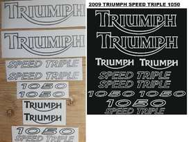 2009 Triumph ST 1050 decals vinyl sticker kit