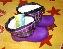 Эва новые зимние сапоги (резиновые) по стельке 22,5см, размер 35