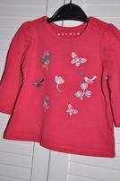 NUTMEG Czerwona bluzeczka 3-6miesięcy 62-68cm