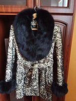 Пальто с натуральным мехом Modern Vice S-M зима