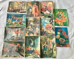 Объемные стерео варио открытки СССР