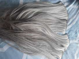 Human hair Ponytail Blonde & Fibre Clip in extensions