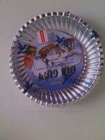 Набор одноразовой бумажной посуды (цвет серебряный)