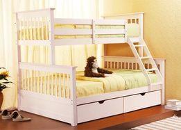 Двухъярусная кровать Жасмин из массива бука. Любые размеры. АКЦИЯ!!!