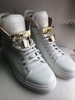 BUSCEMI biale sneakersy z naturalnej skory , rozmiar 40