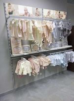 Торговое оборудование б/у (стеллажи и мебель) в магазин детской одежды