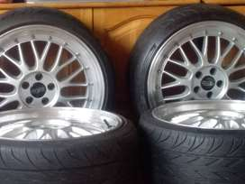 18 inch evo tuning mag rims with tyres