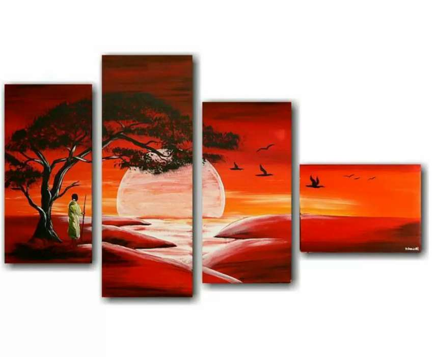 4in1 art paintings for interior decors 0
