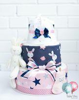 Торт из памперсов, торт с подгузниками, памперсный. На выписку Наличие