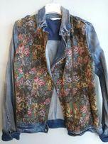 Katana kurtka jeans kwiaty promod