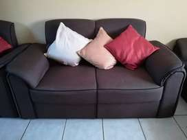 6 Seater fabric couch.
