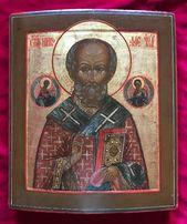 Школьная икона святого Николая Чудотворца