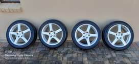 17 Inch TSW Apex Rims + Tyres for Sale