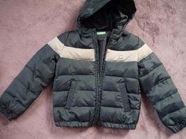 Куртка BENETTON пух на 7-8 лет