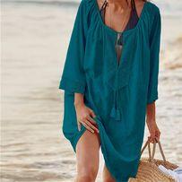 НОВИНКА! Пляжная туника. Пляжный халат. Парео. Пляжная накидка.
