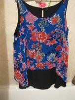 туника цветная блуза блузка красивая очень 24 56-58 2XL двойная фирма