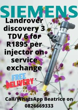 Landrover discovery 3 tdv 6 injectors for sale