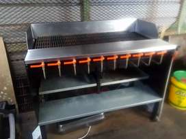 Gas Griller Free Standing Unit with drip tray